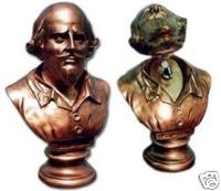 Shakespeare bust and light switch